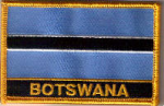 Botswana Embroidered Flag Patch, style 09.